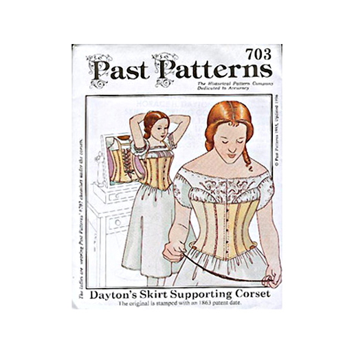 Past Patterns 1863 Dayton's Skirt Supporting Corset Pattern