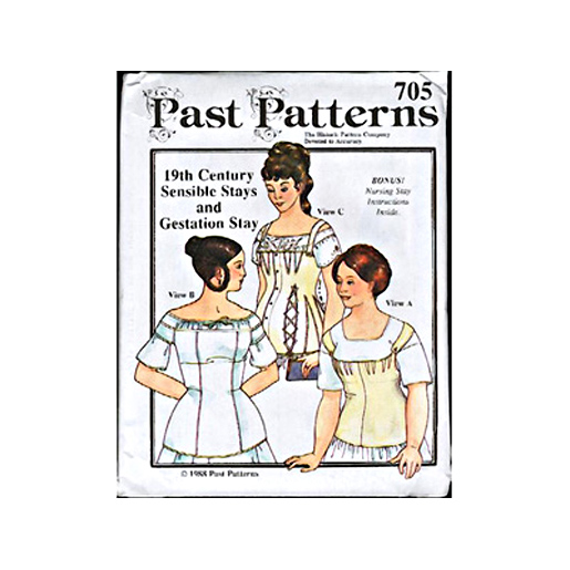 Past Patterns Early to Mid 19th C  Stays Patterns from